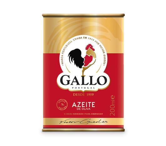 Azeite de oliva Gallo lata 200ml - Imagem em destaque