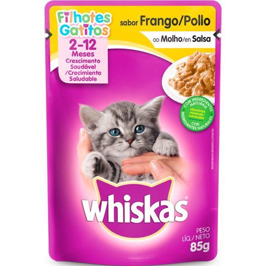 Alimento para gatos Whiskas frango ao molho  Filhotes 85g - Imagem em destaque