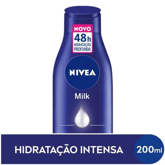 NIVEA Loção Deo-Hidratante Corporal Milk Hidratação Profunda 200 mL - Imagem em destaque