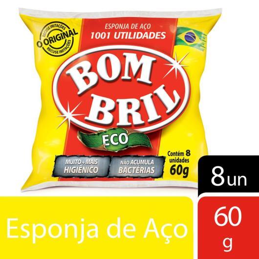 Esponja Bombril lã de aço com 8 unidades 60g - Imagem em destaque