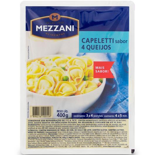 Capeletti 4 queijos Mezzani 400g - Imagem em destaque