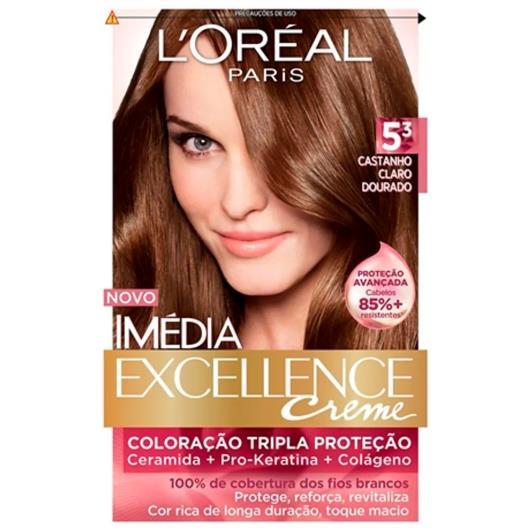Tintura  Imédia Excellence  5.3 castanho claro dourado - Imagem em destaque