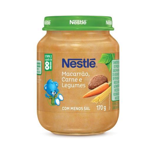 PAPINHA Nestlé Macarrão Carne e Legumes Pote 170g - Imagem em destaque