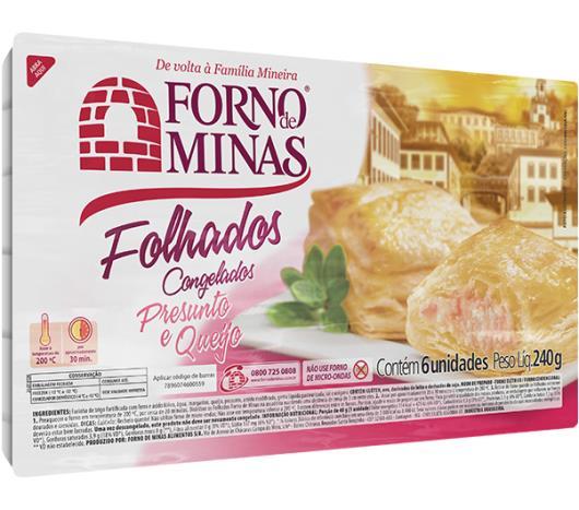 Folhado Forno de Minas presunto e queijo 240g - Imagem em destaque