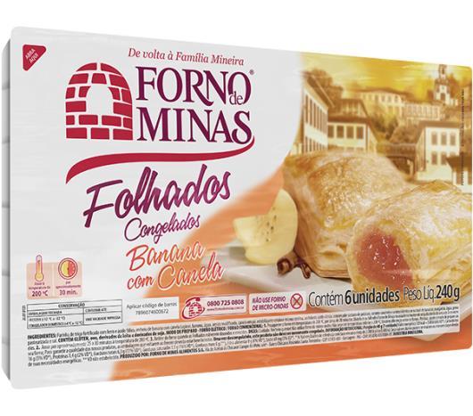Folhado congelado banana com canela Forno de Minas 240g - Imagem em destaque
