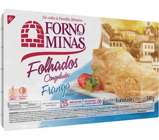 Folhado Forno de Minas de frango congelado 240g - Imagem em destaque