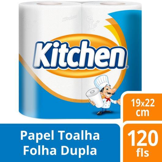 PAPEL TOALHA KITCHEN COM 2 ROLOS DE 60 FOLHAS CADA - Imagem em destaque