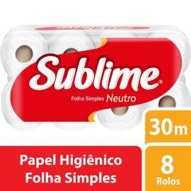 Papel higiênico Sublime 30 metros 8 unidades