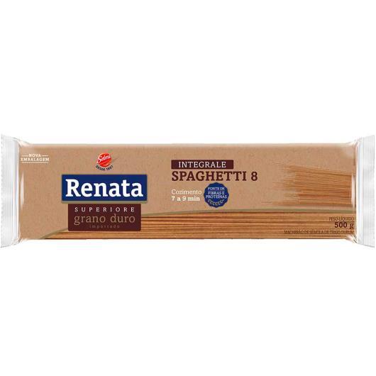 Macarrão integrale spaghetti n°8 Renata 500g - Imagem em destaque