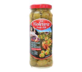 Azeitona La Violetera vidro recheado com pasta de pimentão 200g