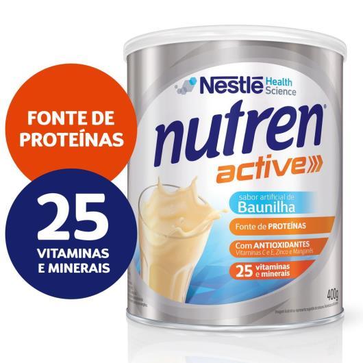 Nestlé NUTREN ACTIVE Baunilha Complemento Alimentar Lata 400g - Imagem em destaque