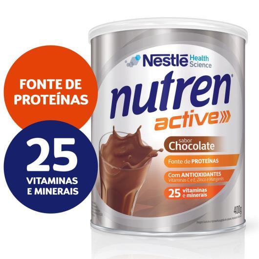Nestlé NUTREN ACTIVE Chocolate Complemento Alimentar Lata 400g - Imagem em destaque