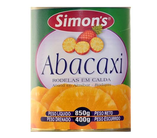 Abacaxi em calda Simon's Rodelas 400g - Imagem em destaque