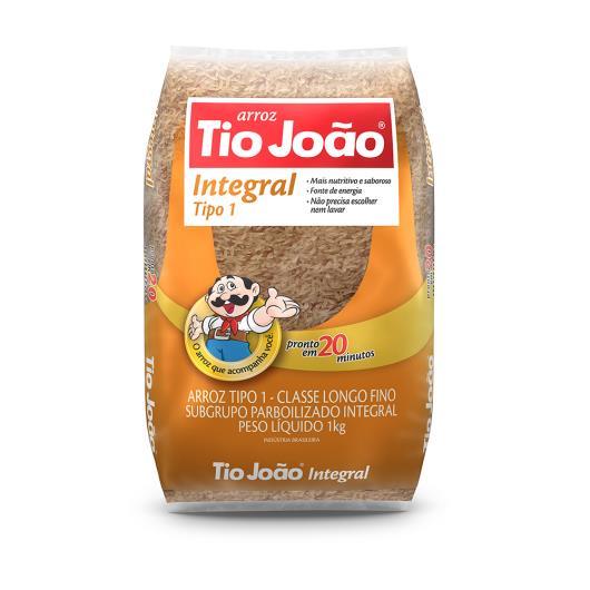 Arroz  Tio João parbolizado integral tipo 1  1kg - Imagem em destaque