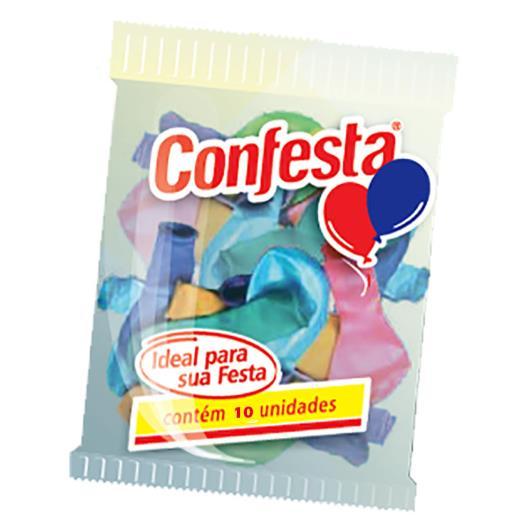 Balão Confesta Sortidos N°6.5 10 Unidades - Imagem em destaque