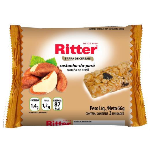 Barra de cereais Ritter sabor castanha do pará 3 unids. de 22g cada - Imagem em destaque