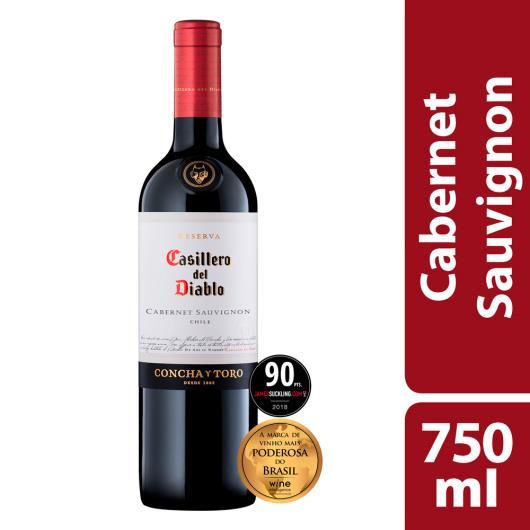Vinho Chileno Tinto Seco Reserva Casillero del Diablo Cabernet Sauvignon Garrafa 750ml - Imagem em destaque