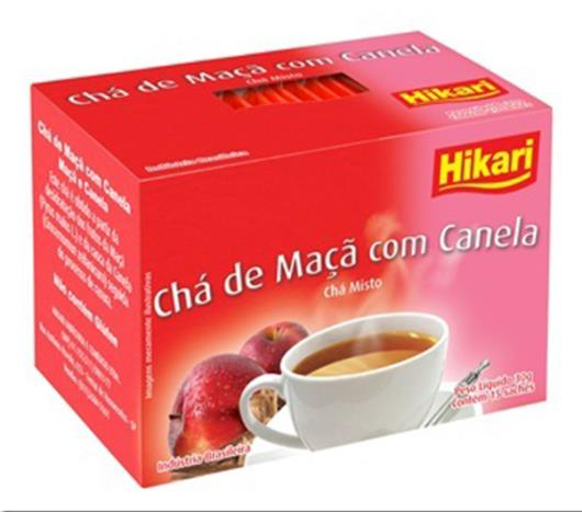 Chá Hikari maçã com canela 30g - Imagem em destaque