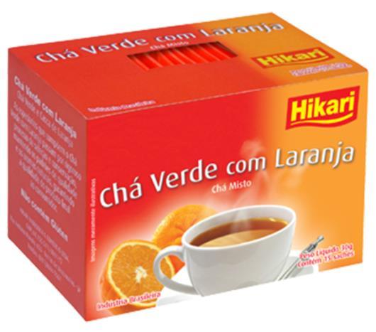 Chá verde Hikari com laranja 30g - Imagem em destaque