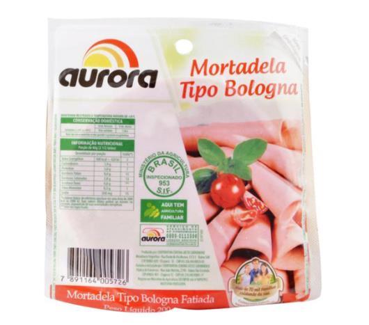 Mortadela bologna fatiada Aurora 200g - Imagem em destaque