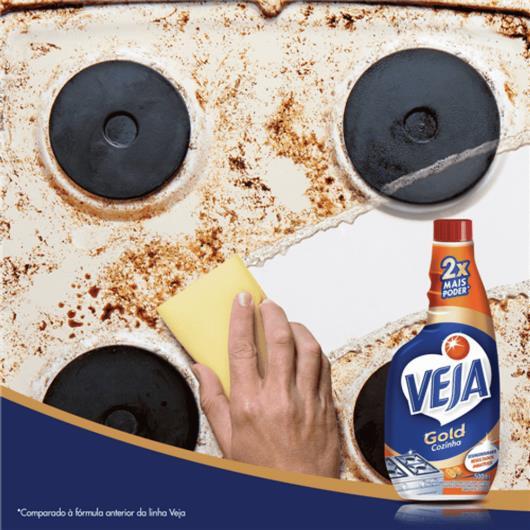 Limpador Veja desengordurante Cozinha extrato de laranja refil 500ml - Imagem em destaque