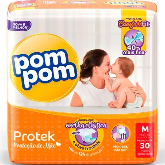 Fralda descartável Pom Pom protek baby M 30 unidades - Imagem em destaque