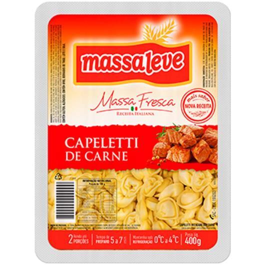 Capeletti carne Massa Leve 400g - Imagem em destaque