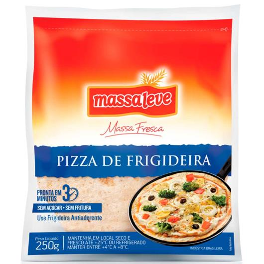 Massa para pizza frigideira 10 unidades Massa Leve 250g - Imagem em destaque