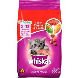 Alimento para gatos filhotes carne e leite Whiskas 500g