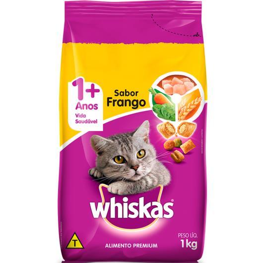 Ração para gatos Whiskas sabor frango 1kg - Imagem em destaque
