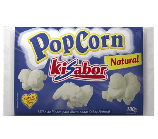 Milho de pipoca Kisabor para microondas natural 100g - Imagem em destaque