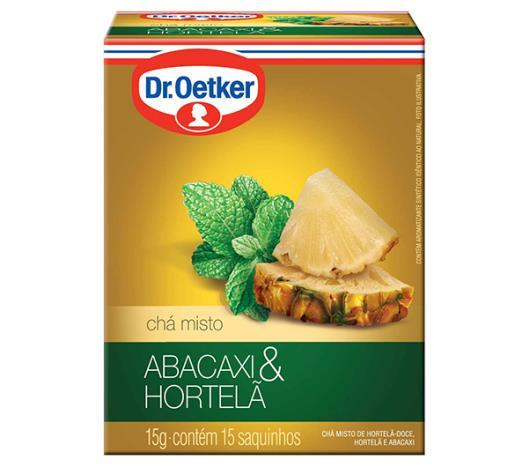 Chá Oetker de abacaxi com hortelã 15g - Imagem em destaque