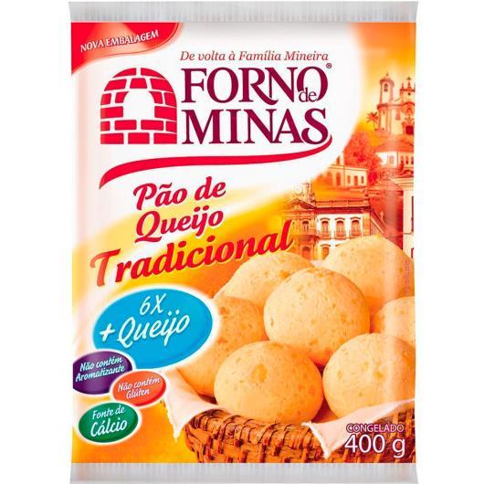 Pão de queijo Forno de Minas Tradicional Congelado 400g - Imagem em destaque