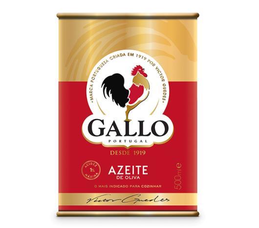 Azeite de oliva Gallo lata 500ml - Imagem em destaque
