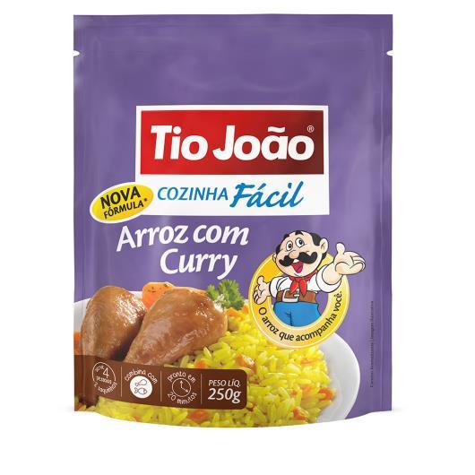 Arroz Tio João cozinha fácil com curry 250g - Imagem em destaque