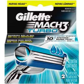Carga Gillette mach 3 turbo 2 unidades
