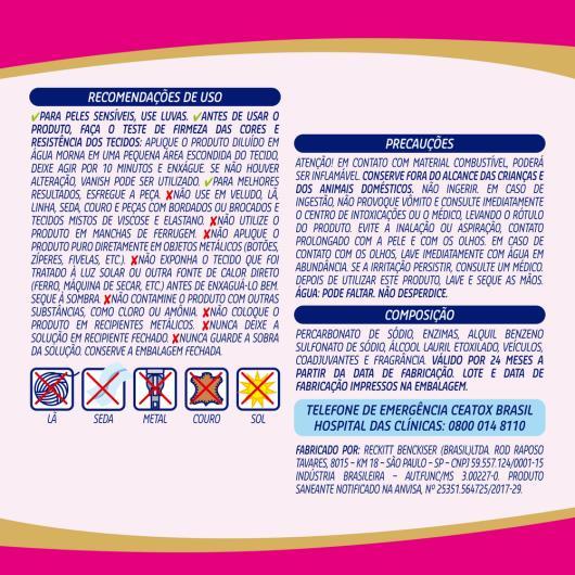 Vanish Oxi Action Tira manchas em Pó para roupas coloridas 900g - Imagem em destaque