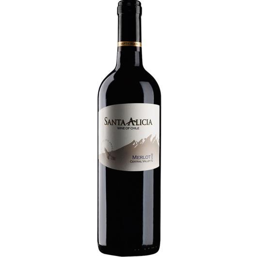 Vinho Chileno Santa Alicia Merlot 750ml - Imagem em destaque