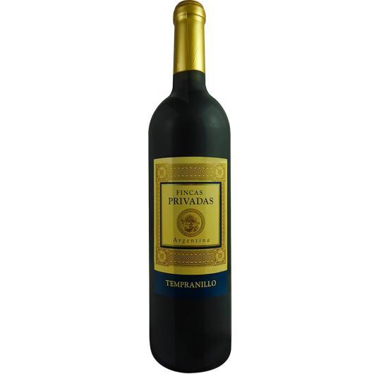 Vinho Argentino Fincas Tempranillo Privadas 750 ml - Imagem em destaque