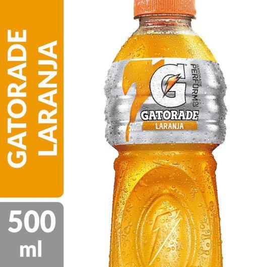 ISOTÔNICO GATORADE LARANJA 500 ML GARRAFA - Imagem em destaque