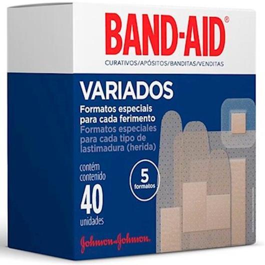 Curativo Band-Aid variados com 40 unidades - Imagem em destaque