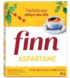 Adoçante em pó Finn com aspartame 40g
