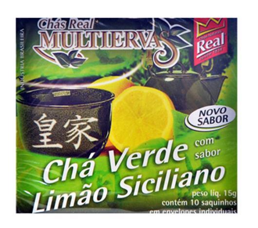 Chá Real multiervas verde com limão siciliano 15g - Imagem em destaque