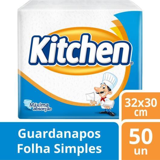 GUARDANAPO DE PAPEL FOLHA SIMPLES KITCHEN - 50 UNIDS - 33 X 30 CM - Imagem em destaque