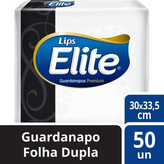 GUARDANAPO DE PAPEL FOLHA DUPLA ELITE - 50 UNIDS - 33 X 33,5 CM - Imagem em destaque