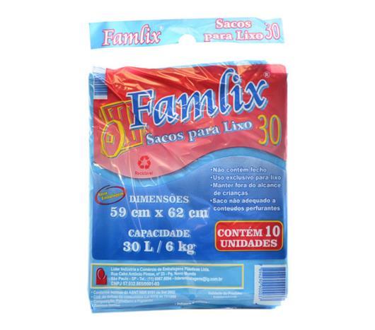 Saco de lixo azul Famlix 30 Litros - Imagem em destaque