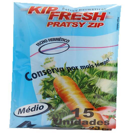 Saco Plástico Pratsy Zip Kip Fresh 18cm x 23cm c/ 15 unids - Imagem em destaque