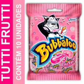 Chiclete Bubbaloo sabor tutti frutti com 10 unidades 50g