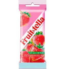 Bala Fruittella de morango 3 unidades 120g