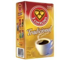 Café 3 Corações a vácuo tradicional  250g